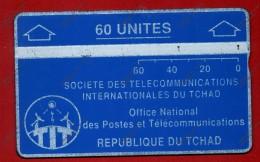 """CHAD: CHD-5 1988 """"Blue & Silver"""" 60 Units CN:810B Used - Tschad"""