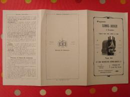 Dépliant Publicitaire De 1891 : Magneto Simms-Bosch à Bougies - Publicités