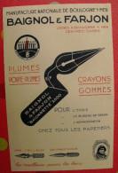 Publicité Baignol & Farjon Vers 1910. Porte-plumes Crayons Gommes  Papeterie. Boulogne Sur Mer - Publicités