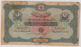 TURKEY,TURQUIE,TURKEI,OTTOMAN 1 LIVRE USED 1916-1917 - Turquie