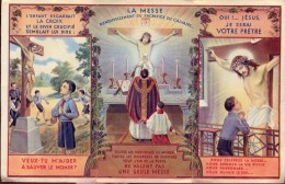Devotie - Prentje - La Messe - Misviering - Priester Roeping - Andachtsbilder