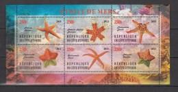 Ivory Coast 2013,6V In Sheetlet,,starfish,zeesterren,seestern,étoile De Mer,estrella De Mar,MNH/Postfris(L2367) - Vie Marine