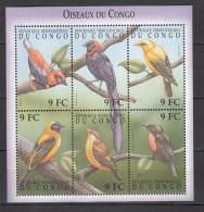 Congo 2000,6V In Sheetlet,birds,vogels,vögel,oiseaux,pajaros,uccelli,aves,MNH/Postfris(L2368) - Vogels