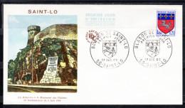 FRANCE 1966  FDC. BLASON DE SAINT-LÔ   CN299 - FDC