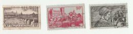1939 - Sites Et Paysages - BEZIERS ; PAU; LYON - Yvert & Tellier N° 448-449-450 - Francia
