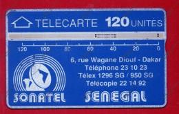 """SENEGAL: SEN-06A 120 Units """"Logo - Value Over Band & Telecom's Address"""" CN:012A Used - Senegal"""