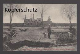 ALTE POSTKARTE AUS DEN KÄMPFEN UM MARGGRABOWA Schulhaus Olecko Oletzko Treuburg Cpa Postcard AK Ansichtskarte - Ostpreussen