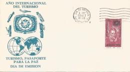 B)1967 MEXICO, PASSPORT, TOURISM, PEACE, TRANSPORT,  INTERNATIONAL  TOURIST YEAR, MARCO POLO, MEXICO AEREO, FDC - Mexico
