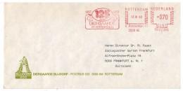 EMA METER STAMP COVER NEDERLAND -ZOO DIERGAARDE ROTTERDAM TIERGARTEN 1982 125 YEARS - Ohne Zuordnung