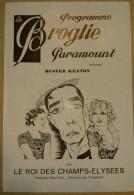 Programme Cinéma Paramount Buster Keaton Le Roi Des Champs-Elysées - (50) - Programs