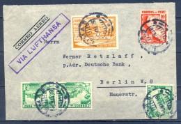 1939 , PERÚ , SOBRE CIRCULADO ENTRE LIMA Y BERLÍN , CORREO AÉREO , VIA LUFTHANSA - Pérou