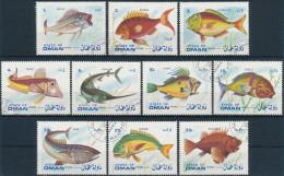 Oman Fische Gemäss Bild, Sauber Gestempelt - Fische