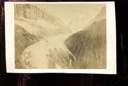 BTDIV1 Suisse Photo Format CDV (9,5x6,5cm) La Mer De Glace - Anciennes (Av. 1900)