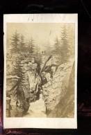 BTDIV1 Suisse Photo Format CDV (9,5x6,5cm) Pont Prés De Zermatt - Anciennes (Av. 1900)