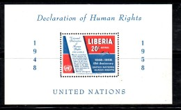 ENR80B - LIBERIA 1958 , Il BF N.  12  ***  MNH  Diritti - Liberia