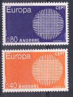 ANDORRA FRANCESA 1970. EUROPA-CEPT .YVERT Nº  Nº 202/203  SES25GRANDE - Unused Stamps