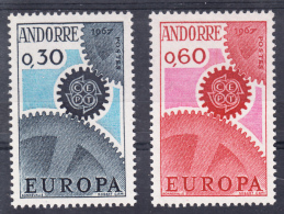 ANDORRA FRANCESA 1967. EUROPA-CEPT .YVERT Nº  Nº 179/180  SES25GRANDE - Unused Stamps