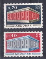 ANDORRA FRANCESA 1968. EUROPA-CEPT .YVERT Nº  Nº 194/195  SES25GRANDE - Unused Stamps