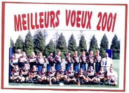 RUGBY ,Olympique COULOMMIERS Equipe Seniors Saison 2000,2001 Avec Noms Des Joueurs 2 Scans - Rugby