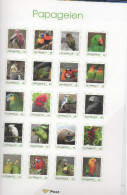 AUSTRIA, 2015, MNH,PERSONALIZED SHEETLET,BIRDS, PARROTS,  20v - Parrots