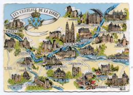 LES CHATEAUX DU VAL DE LOIRE --Multivues,blason ,cpsm 15 X 10 N° ??? éd  Artaud - Centre-Val De Loire