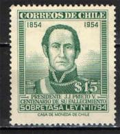 CILE - 1954 - RITRATTO DEL PRESIDENTE J. J. PRIETO - USATO - Chili