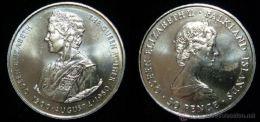 FALKLAND ISLANDS 1980 KM15A 50 PENS 80º ANIV S.M. ELIZABETH II QUEEN BIRTHDAY U.N.C. - Falkland Islands