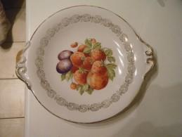 Plat  Décor Fruits - Cerámica Y Alfarerías