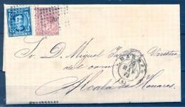 1871 , MADRID , CIRCULADA HACIA ALCALÁ DE HENARES , TRÉBOL DE MADRID , ED. 188 , 175 - 1875-1882 Royaume: Alphonse XII
