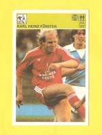 Svijet Sporta Card - Soccer, Karl Heinz Forster     333 - Football