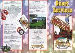 Pioneer Hotel & Gambling Hall Laughlin, NV - Guest Services Brochure - Advertising