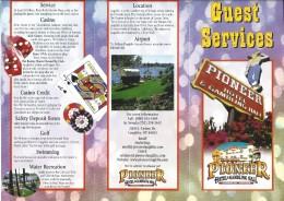 Pioneer Hotel & Gambling Hall Laughlin, NV - Guest Services Brochure - Werbung