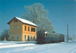 AK Eisenbahn Griechenland Kato Vevi Stathmos Vevis Perasma Meliti Florina OSE Greece Hellas Greek State Railways Winter - Trains
