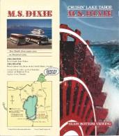 Crusin' Lake Tahoe M.S. Dixie - Glass Bottom Paddle Wheel Ship - Paper Brochure - Tourism Brochures