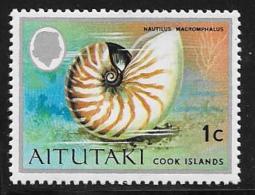 Aitutaki, Scott # 83 MNH Seashell, 1974 - Aitutaki