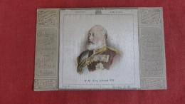 Silk -- Fab Patchwork -H.M. King Edward  VII====ref  2209 - Fancy Cards