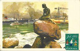 Copenhagen (Kobenhavn, Copenhague) - La Petite Sirène En 1953 - Illustration Signée A.M. - Danemark