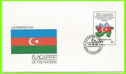 Azerbaïdjan 1992 77 FDC Drapeaux Carte - Azerbaïdjan