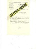 54 - Meurthe-et-moselle - DOMBASLE-SUR-MEURTHE - Facture MARROIG - Vins Et Spiritueux – 1945 - REF 229B - France