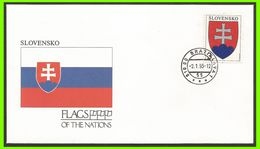 Slovaquie 1993 129 FDC Drapeaux Armoiries - FDC
