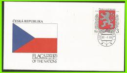 Tchéquie 1993 1 FDC Drapeaux Armoiries - FDC