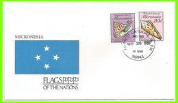 Micronésie 1989 FDC 103 à 104 FDC Drapeaux Faune Marine Coquillages - Micronésie