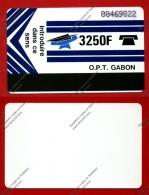 """GABON: GAB-06a """"Blue - Blank Reverse"""" 3.250 F Used"""