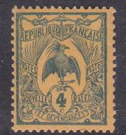 New Caledonia SG 87 1905 Definitives 4c Blue On Orange Mint - New Caledonia