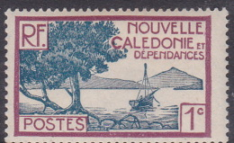 New Caledonia SG 137 1928 Definitives 1c Blue And Purple MNH - New Caledonia