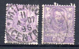 1901, Victor - Emmanuel III.; YT No. 72 2 X, Oblitéré, Lot 45204 - Usati