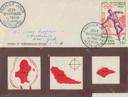Enveloppe  FDC  1er   Jour     WALLIS  Et  FUTUNA     Jeux  Olympiques  De  TOKYO    MATA - UTU  1964 - Summer 1964: Tokyo