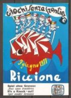 1971 Italia Italy Repubblica Cartolina GIOCHI SENZA FRONTIERE Annullo Speciale Riccione 9/6/71 Viagg. Bologna - Giochi