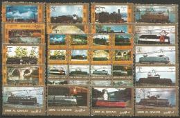 UMM AL QIWAIN - Lot 32 Timbres - Oblit - Trains