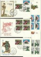1972 Italia Italy Repubblica TRUPPE ALPINE  ALPINE TROOPS 6 Serie Di 3v. Su 5 FDC - Militaria